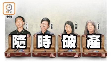 随时破产!香港4名撤职议员需付天价诉讼费2000万