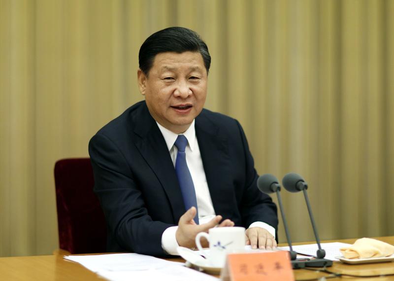 11月27日至28日,中央扶贫开发工作会议在北京召开。中共中央总书记、国家主席、中央军委主席习近平发表重要讲话。新华社记者鞠鹏摄