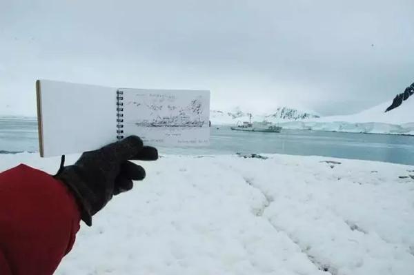 首届南极双年展领队现场。图片:Antarctic Biennale