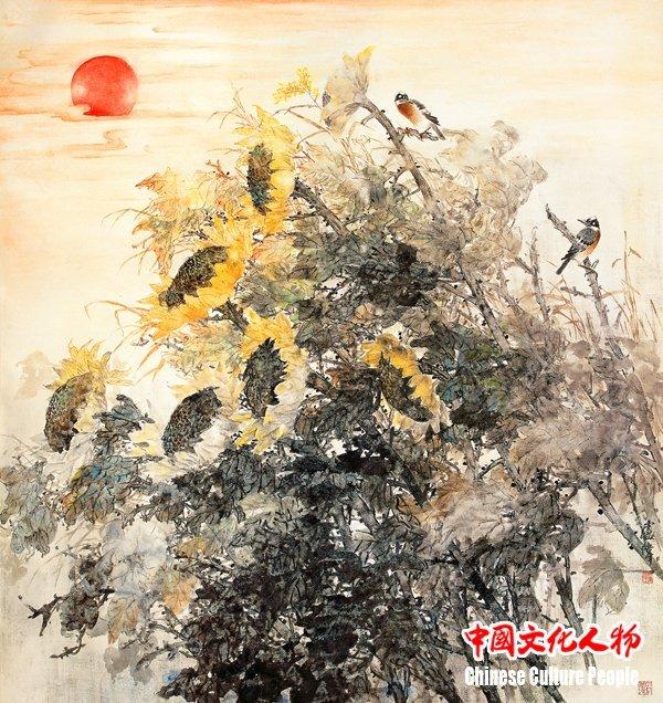 写中国水墨工笔花鸟画