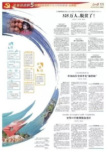 鹿心社撰文,人民日报八个版推介江西
