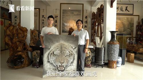 """""""虎王""""王建民和他的儿子"""
