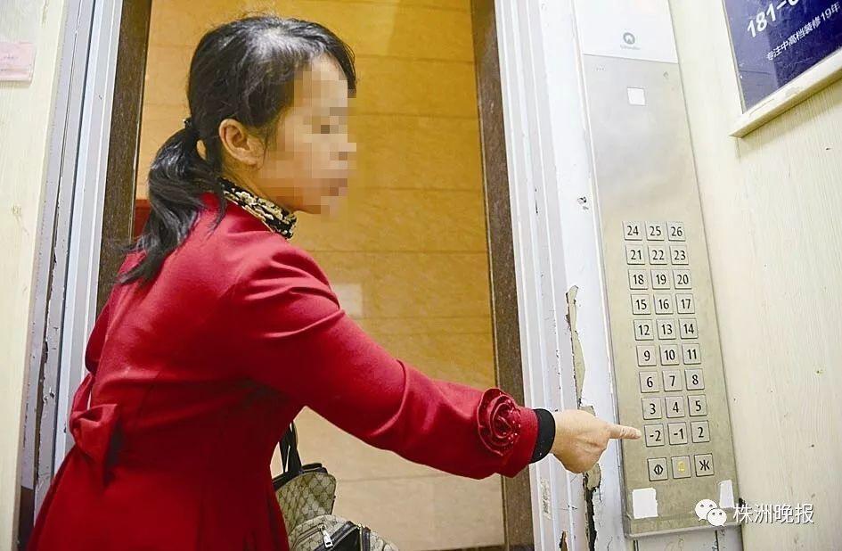 10月11日,春藤小镇小区业主反映电梯问题(本组图片/记者谢慧摄)