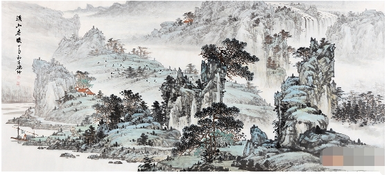 中原画家林德坤:浑厚技法手绘国画山水画 艺术收藏价值高