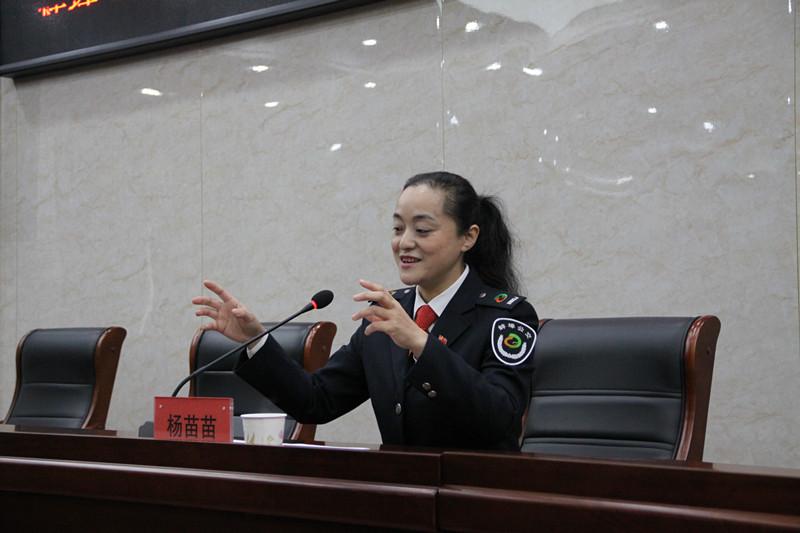 党的十九大代表杨苗苗来蚌埠中环水务有限公司进行十九大精神宣讲