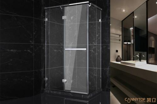 把淋浴房放在一个最适合的位置,在设计之前,对水路管线进行合理布置