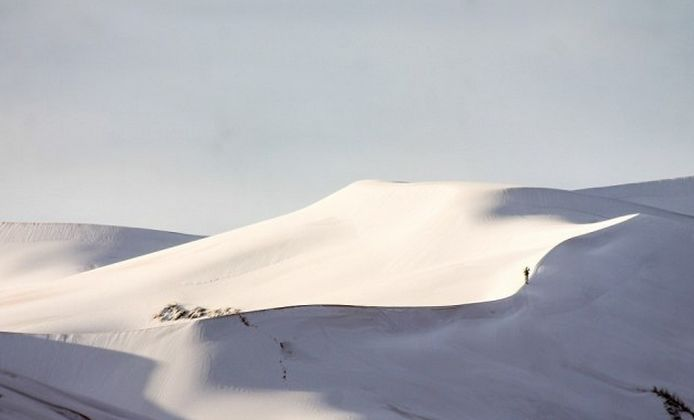 撒哈拉沙漠居然下雪 三毛挚爱的撒哈拉沙漠惊现奇观 竟然下大雪了!