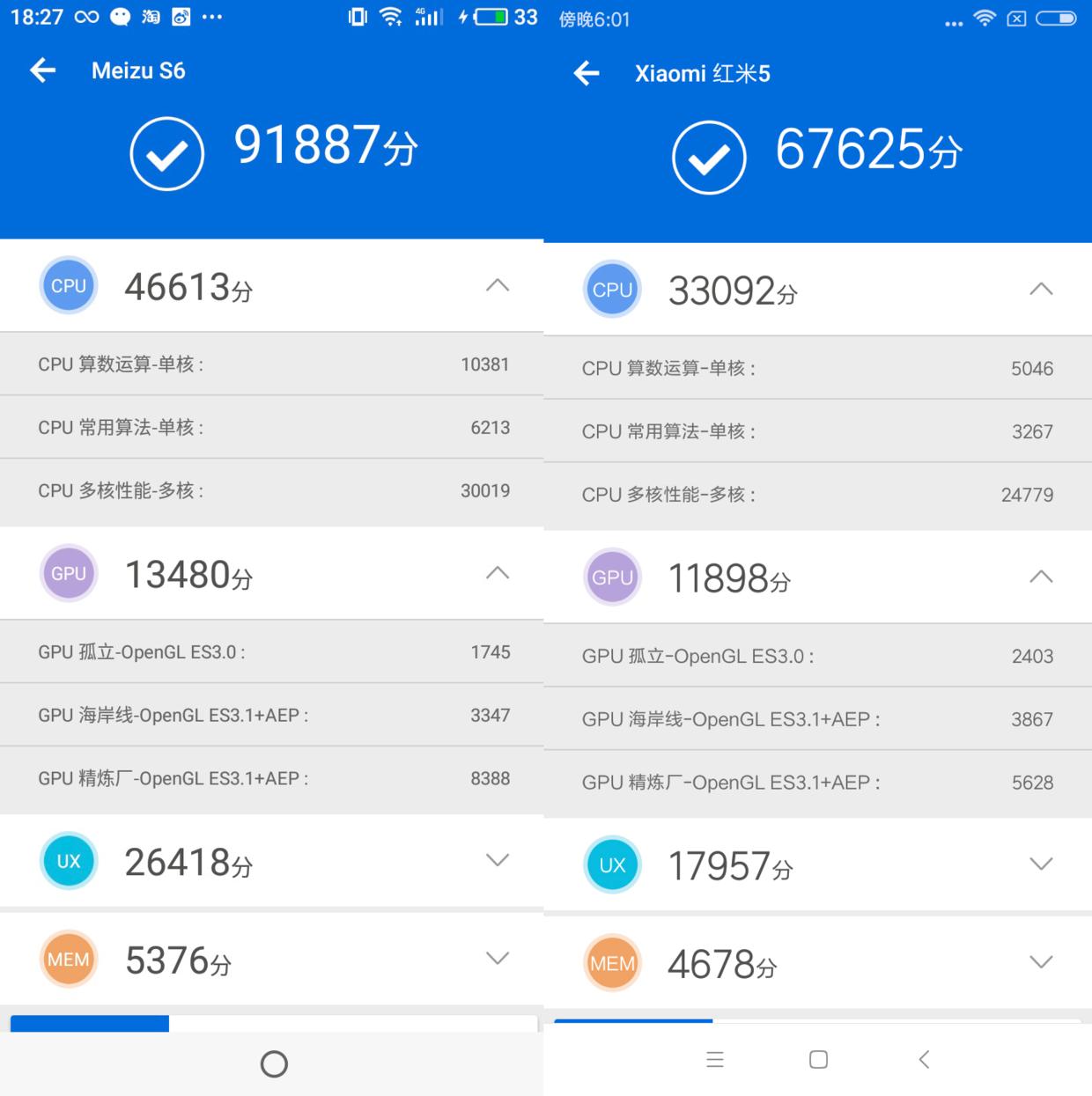 魅蓝S6对比红米5:谁才是千元全面屏最优解   凰家评测