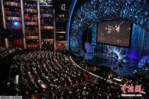 资料图:第90届奥斯卡颁奖礼现场。