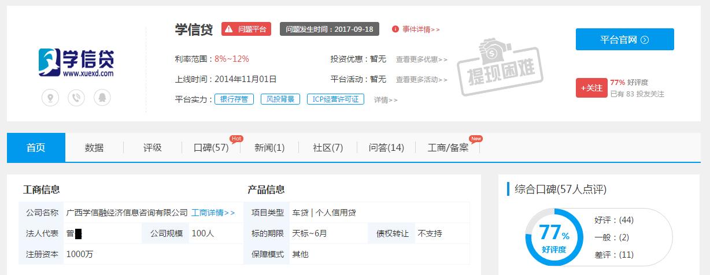 南宁一P2P网贷平台突然失联报案近半年迟迟未立案3
