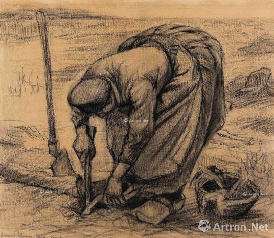 文森特·梵高《种红菜头的农妇》 361.25万美元