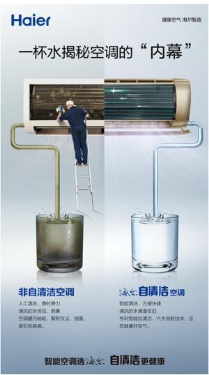 海尔空调自清洗功能预防空调病