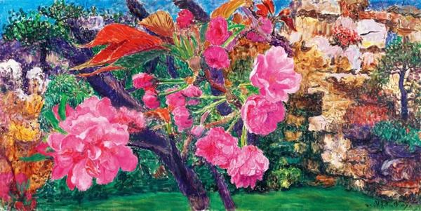 周春芽晚樱与桃花
