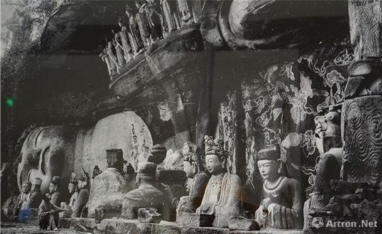 宝顶山大佛湾第11号释迦涅槃圣迹图中国营造学社1940年