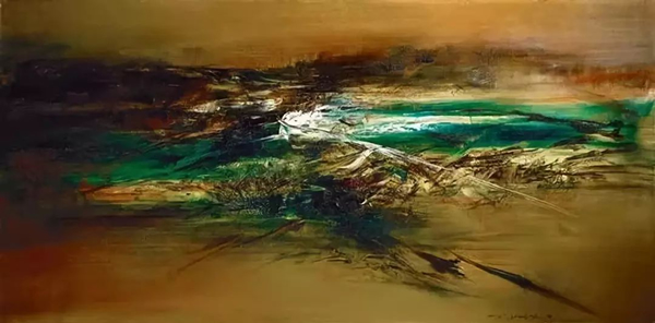 赵无极《26.04.62》 油画画布,1962年作,97.4x194.8公分