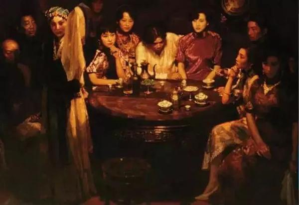 1993年陈逸飞玉堂春暖布面油画169.5×243.5cm