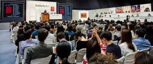 香港苏富比拍卖现场