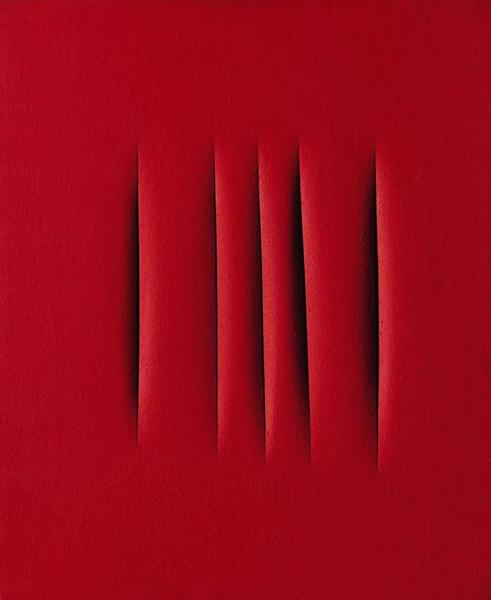 卢齐欧·封塔纳(Lucio Fontana)《空间概念,等待》