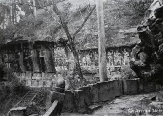1940年年宝顶山石刻一角