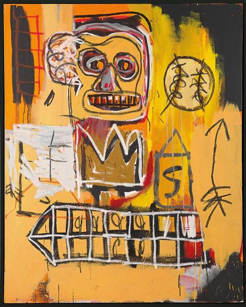 尚·米榭·巴斯奇亚(美国,1960 - 1988) 《无题(橘色运动人像)》