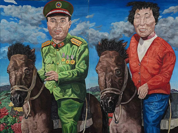 刘炜《革命家庭系列:云游时光》(双联作)