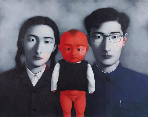 张晓刚血缘:大家庭1号