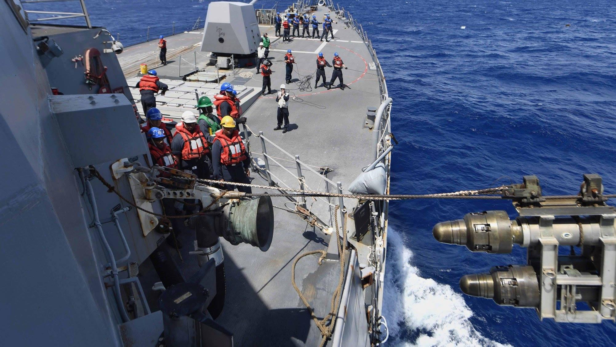 美军也绕台?美舰穿过台湾海峡后再次现身南海