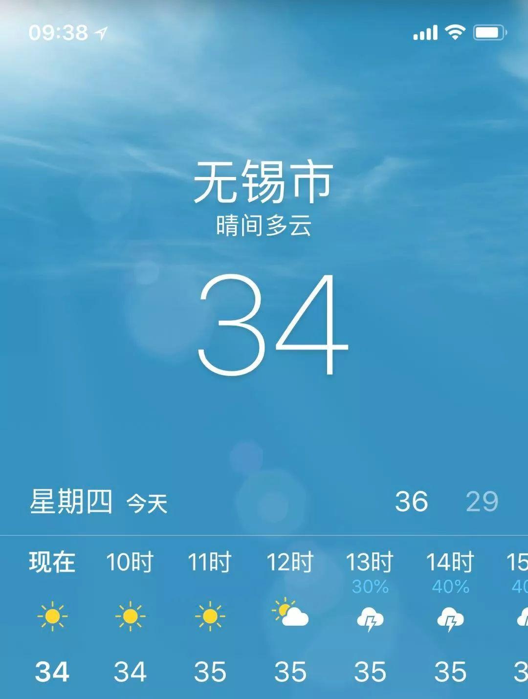 高温!高温!还是高温!≥37℃!!无锡发布高温
