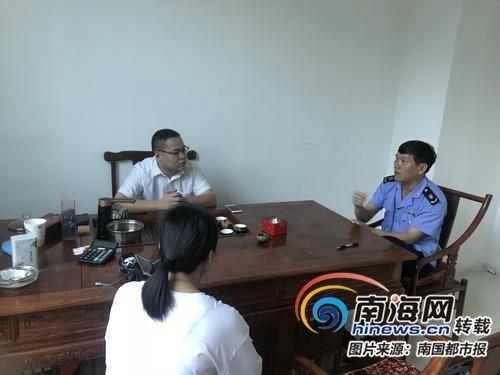 工商部门在帮吴女士协商维权。