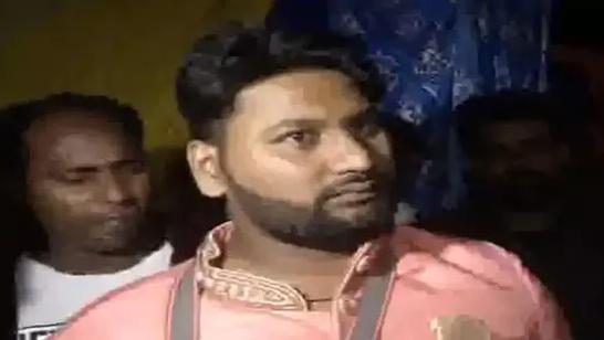 婚礼前中枪的印度小伙(图/印媒ANI)