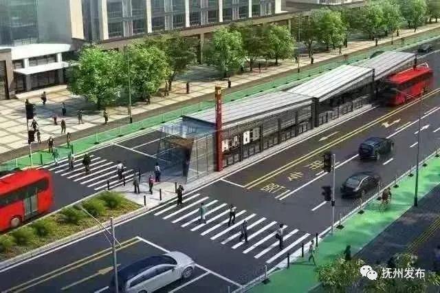 抚州BRT即将试运行线路指引图公布