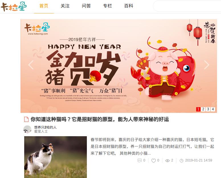 宠物主分享平台网站-卡拉星