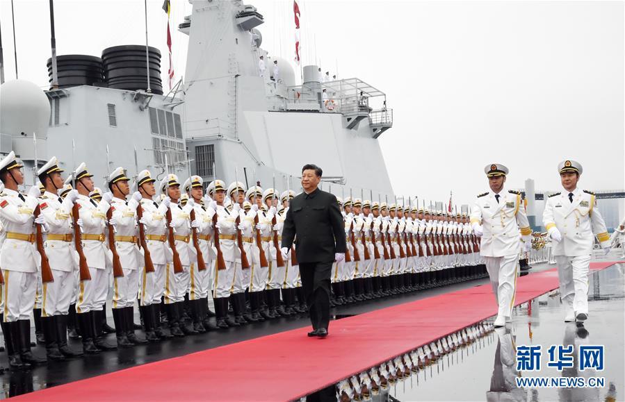 (人民海军70年)(2)习近平出席庆祝人民海军成立70周年海上阅兵活动