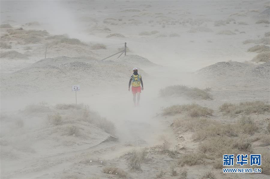 (体育)(4)戈壁挑战赛:大风中前行