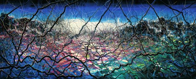 曾梵志:抽象风景2014