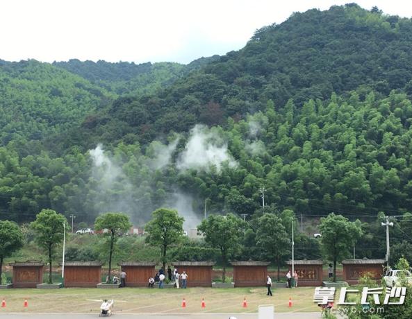 在宁乡县香山国家森林公园举办长沙市林业生物灾害应急演练,紧张而有