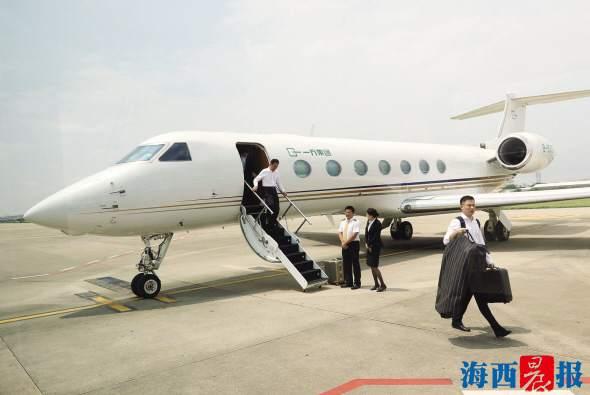 王健林乘坐私人飞机湾流g550