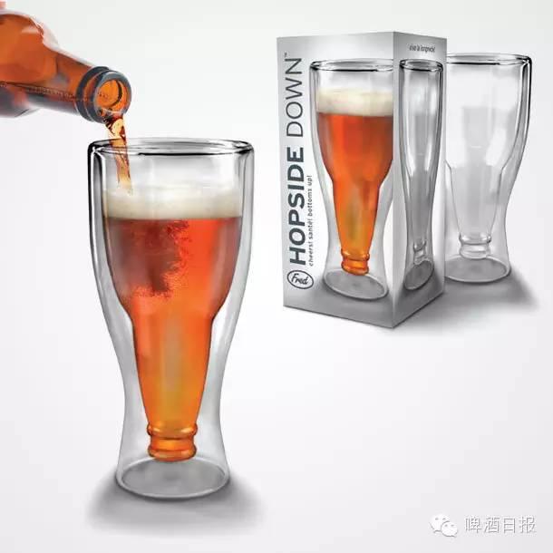 看着球赛喝啤酒 没想到你是这样的啤酒杯