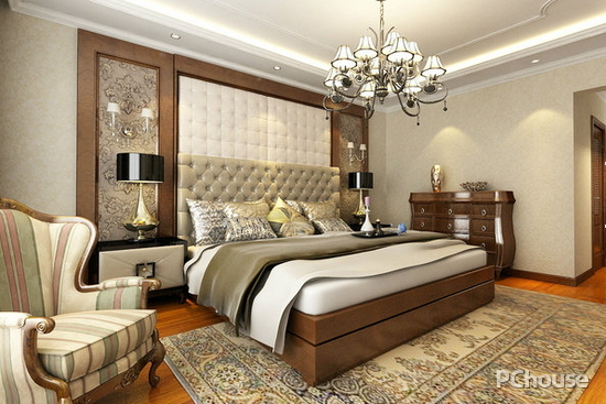 简约欧式风格卧室效果图
