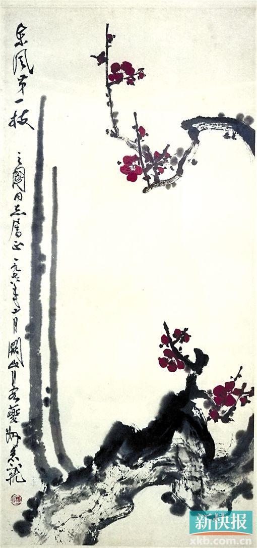 """""""岭南文脉--当代中国画作品展""""推出了众多已故老一辈艺术家的作"""