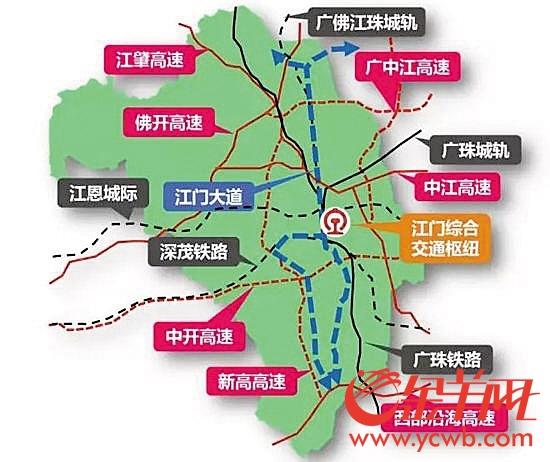 江门交通图