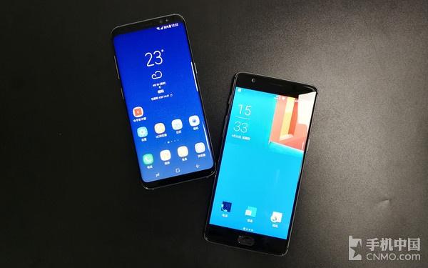 一加手机3T对比三星S8