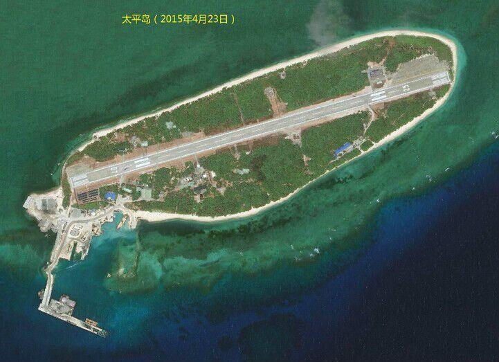 来源:观察者网       浏览大图 太平岛是南沙群岛中最大的自然岛,植被