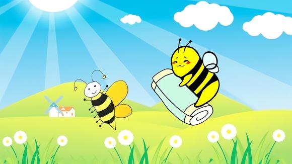 一分钟学会画儿童简笔画《勤劳的小蜜蜂》图片