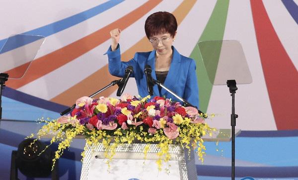 国民党主席洪秀柱。(图片取自台湾东森新闻云)