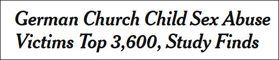 德国天主教惊天丑闻:68年性侵3677名儿童