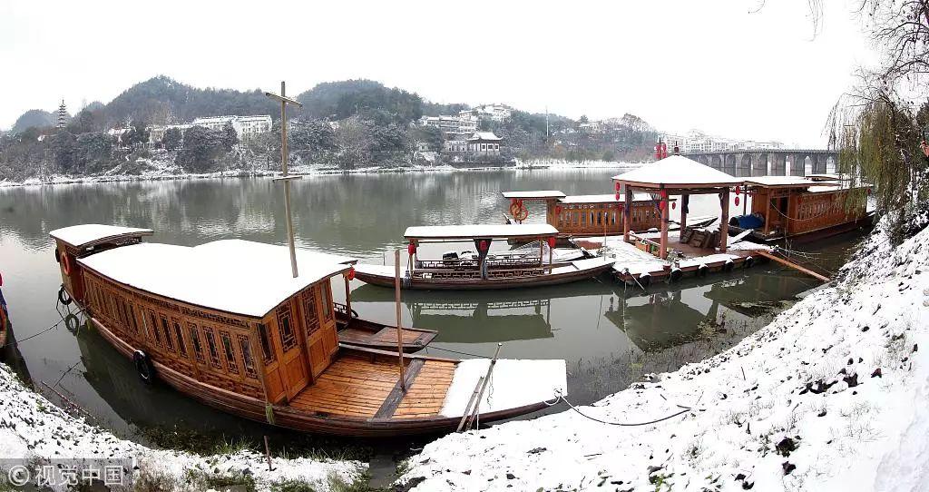 徽州古城雪后景色