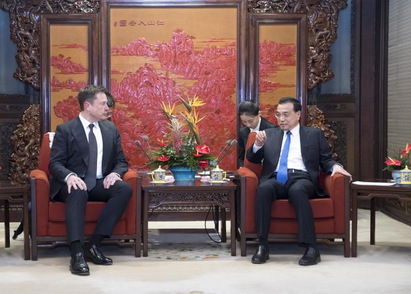 李克强在中南海会见美国特斯拉CEO马斯克(组图)