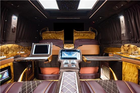 福建奔驰v260内饰改装商务房车配置报价15088779054