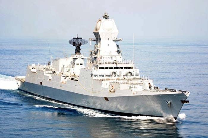 """庆祝中国海军成立70周年,印度派国产""""神盾舰""""道贺"""